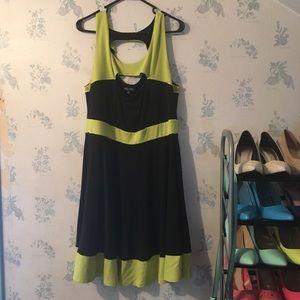 Gorgeous! Black & Neon Yellow/Green Dress